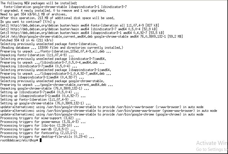 Installing Google Chrome on Debian 10