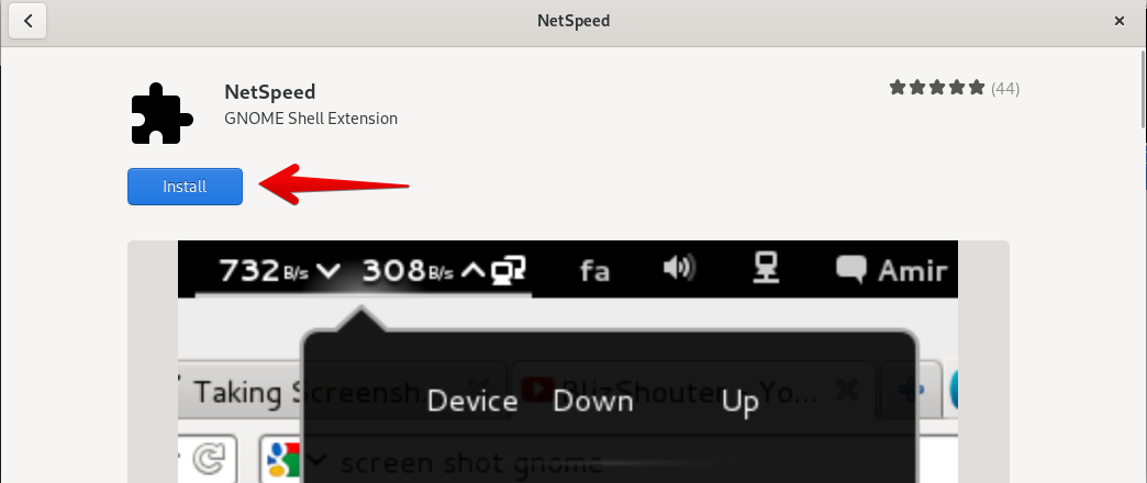 Install Netspeed