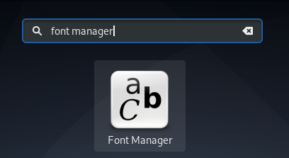 Font Manager App