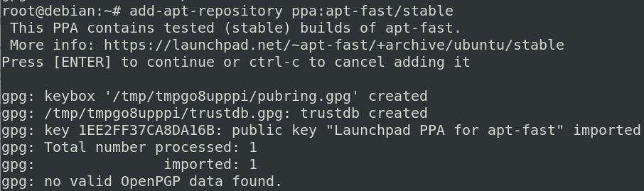 add apt-fast repository