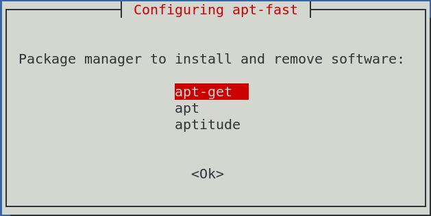 configure apt-fast