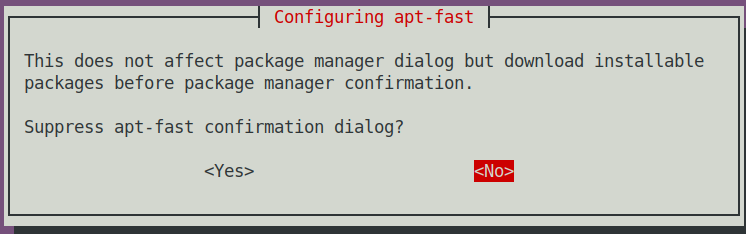 Suppress dialog