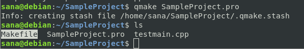 Build project with qmake