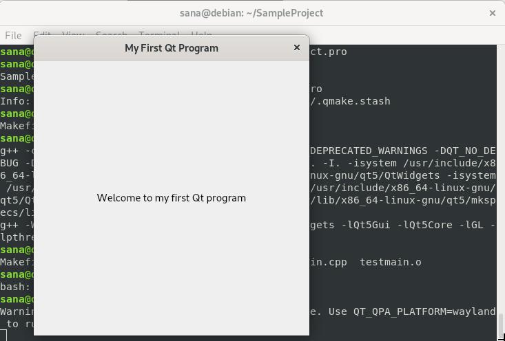Execute QT program