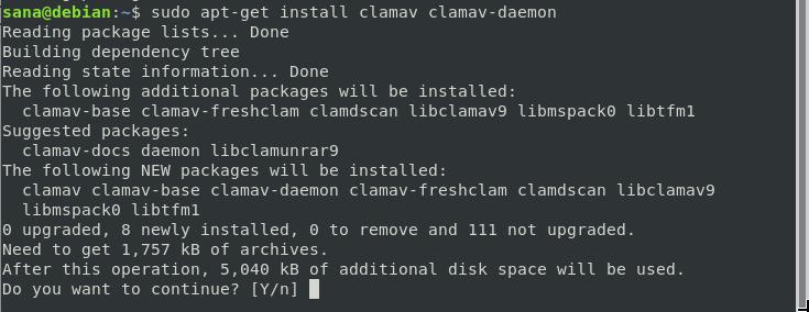 Install ClamAV Antivirus