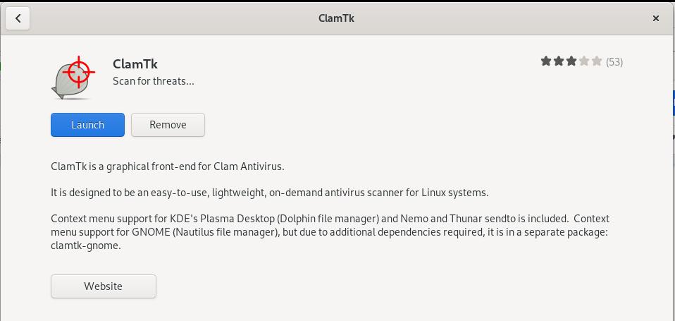 Launch ClamAV GUI