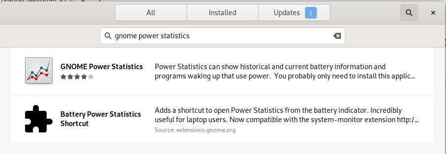 Gnome Power Statistics