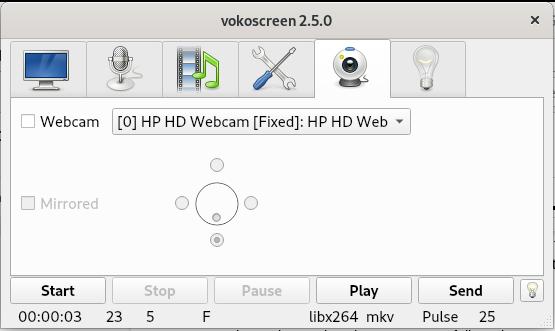 The Webcam settings