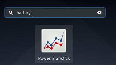 Launch Gnome Power Statistics