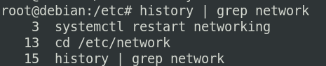 grep command from history