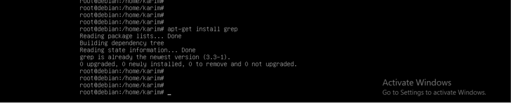 Install grep command