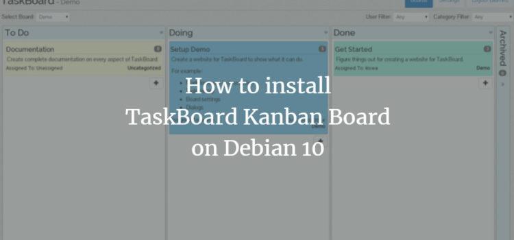 Debian TaskBoard Kanban