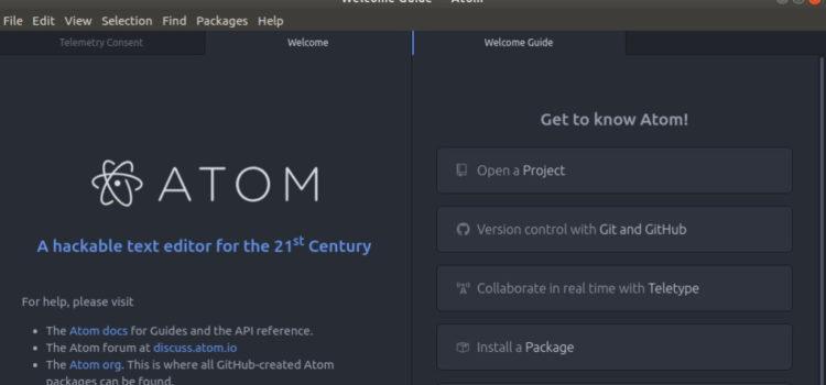 Atom Code Editor on Ubuntu