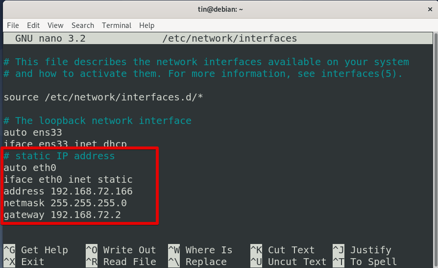 Add a static IP address