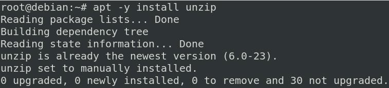 Install unzip