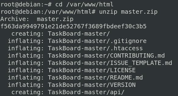unpack TaskBoard source file archive