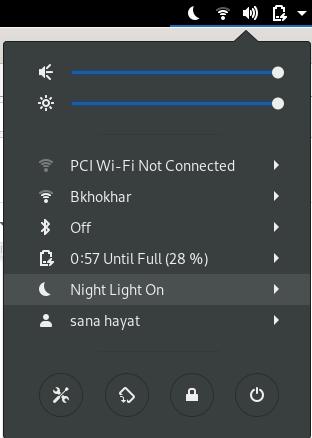 Settings menu on Desktop