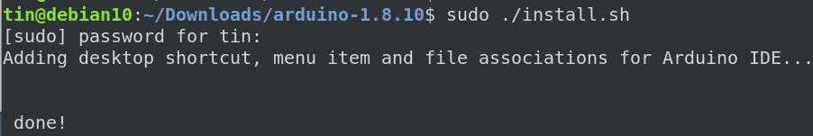 Run install.sh file