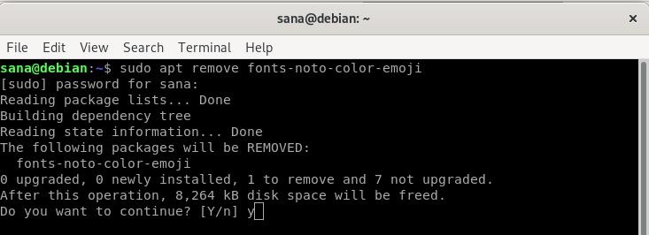 Remove emoji font