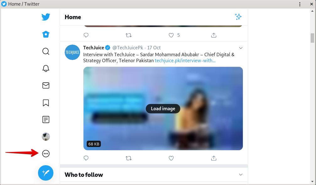 Twitter Lite settings