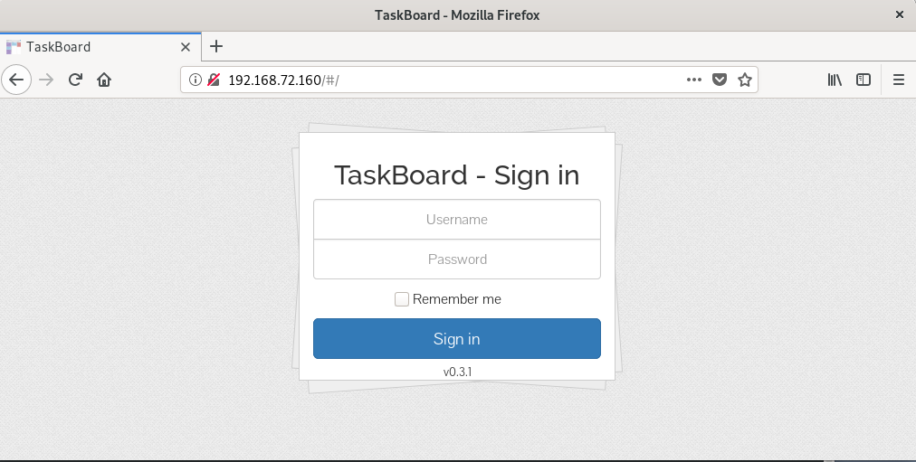 TaskBoard Login