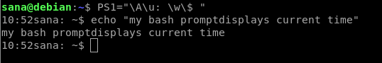 Show time in command prompt