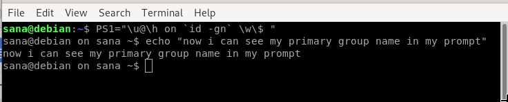 Show command output in prompt