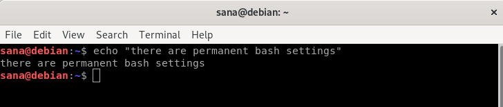 Change color of bash prompt permanently