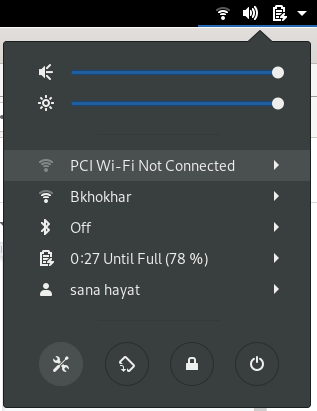Settings Icon menu