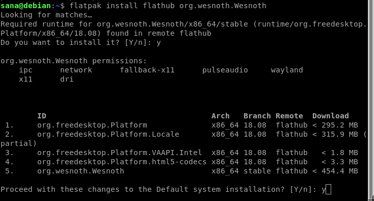 Install Battle for Wesnoth from Flathub