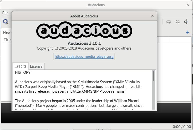 Audacious Media Player on Debian 10
