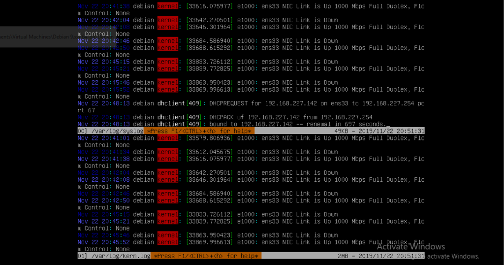 View several log files at once with multitail