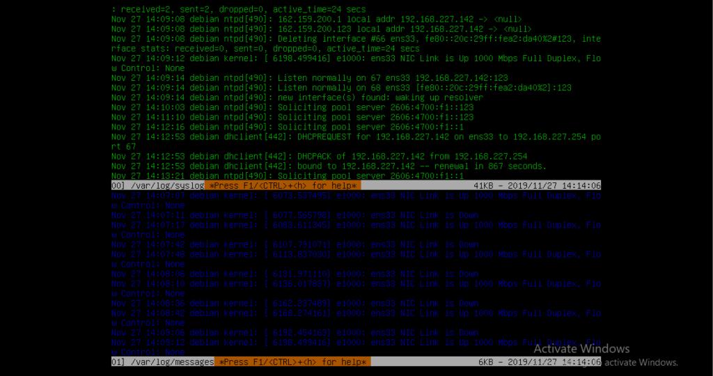 Choose log file text color