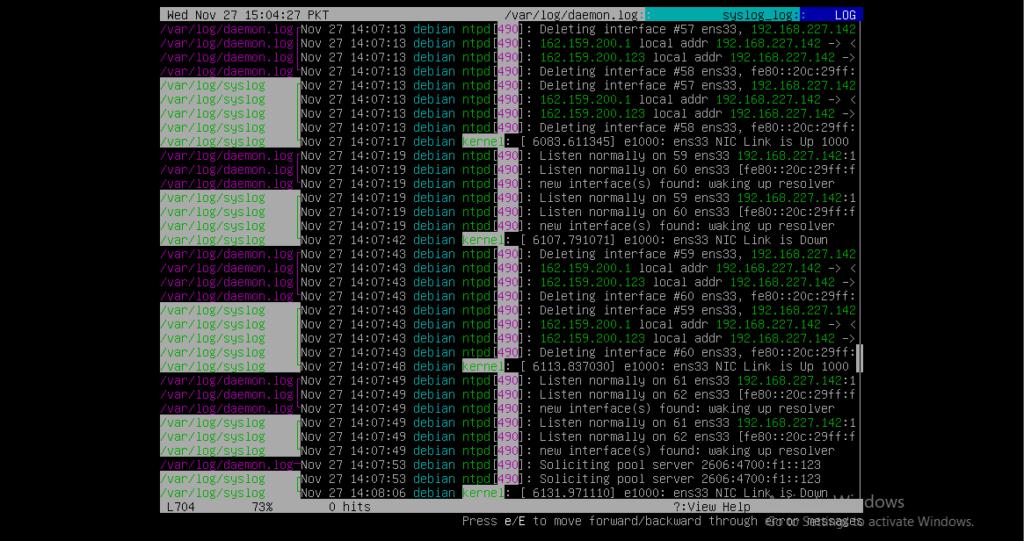 Merge log file susing lnav