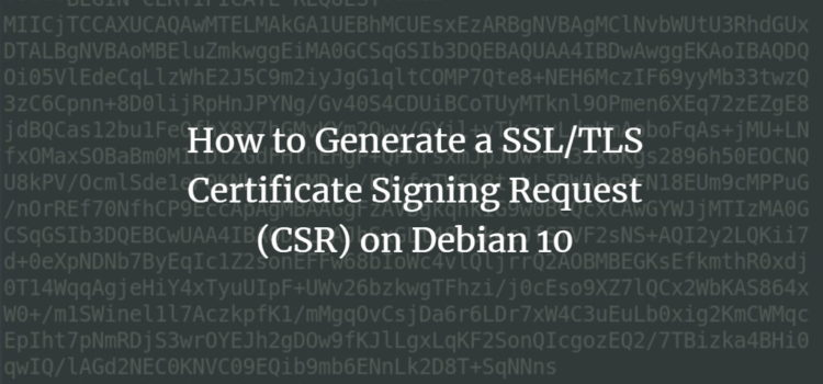 Create SSL CSR