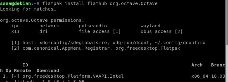 Install GNU Octave using Flatpak