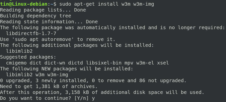 Install w3m