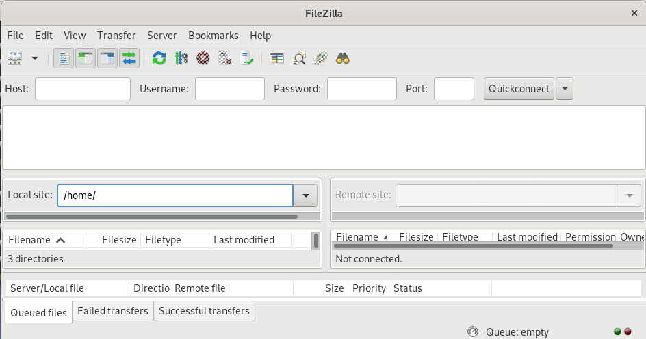 Test FTP Connection by using FileZilla