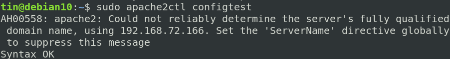 Solve apache configuration errors