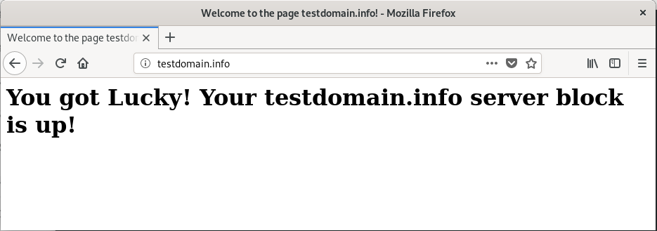 Domain test