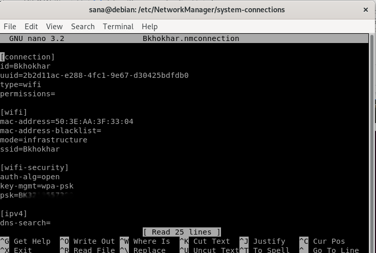 WiFi Config File