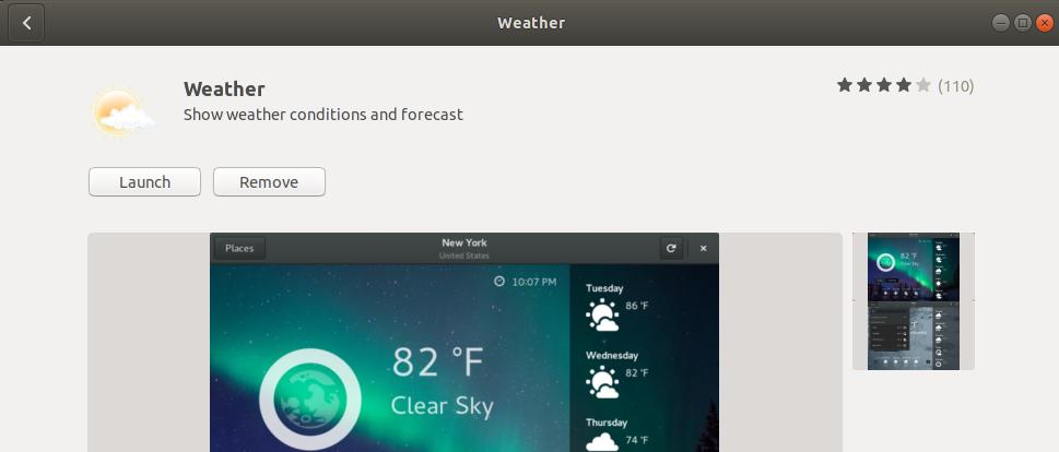Remove GNOME Weather