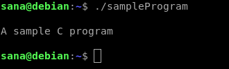 Run the compiled program