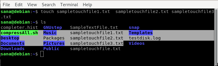 Create multiple files