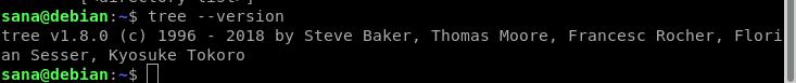 Check tree command version