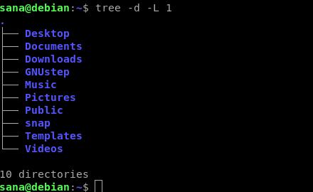 Tree command levels