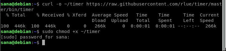 Install timer commandline tool
