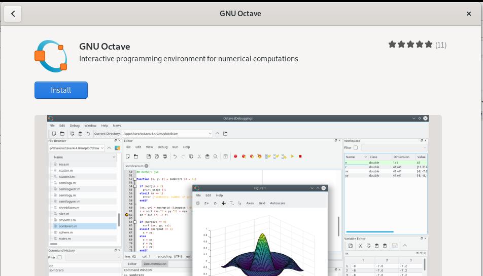 GNU Octave installation package