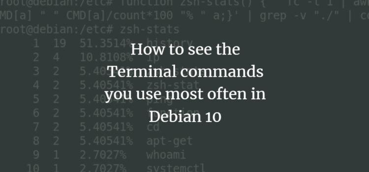 Debian History Command Statistics