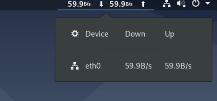 Network Speed on Gnome Desktop